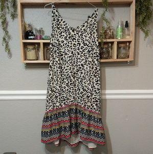 Leopard boho style dress